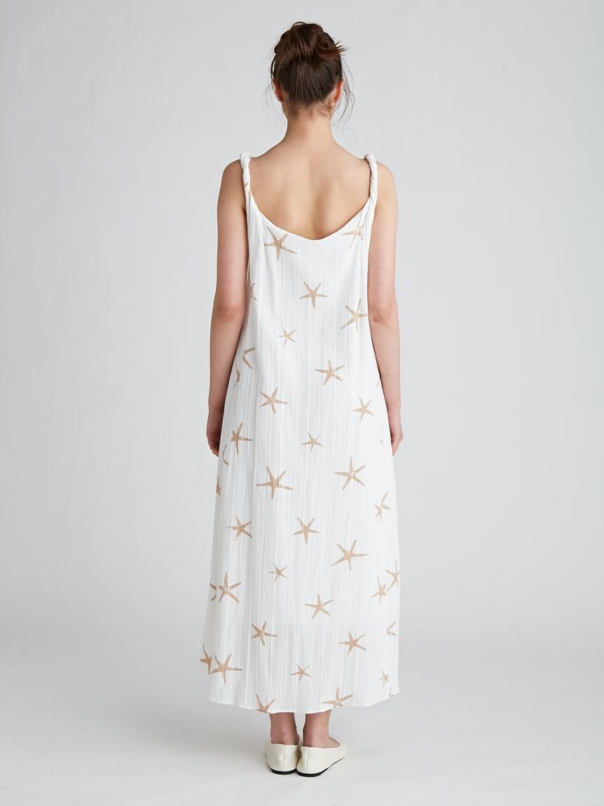 スターフィッシュモチーフスリーブレスドレス | PWFO212377