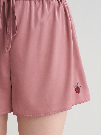 ストロベリー刺繍サテンショートパンツ | PWFP211242