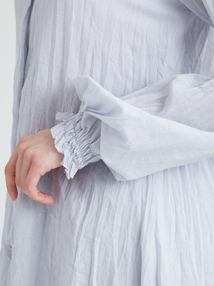 洗いざらしノーカラーシャツ   PWFT211153