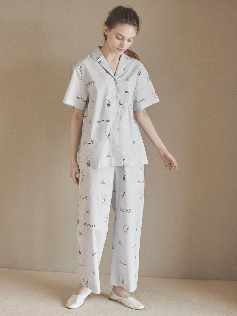 【PEANUTS】モノグラムシャツ | PWFT212367