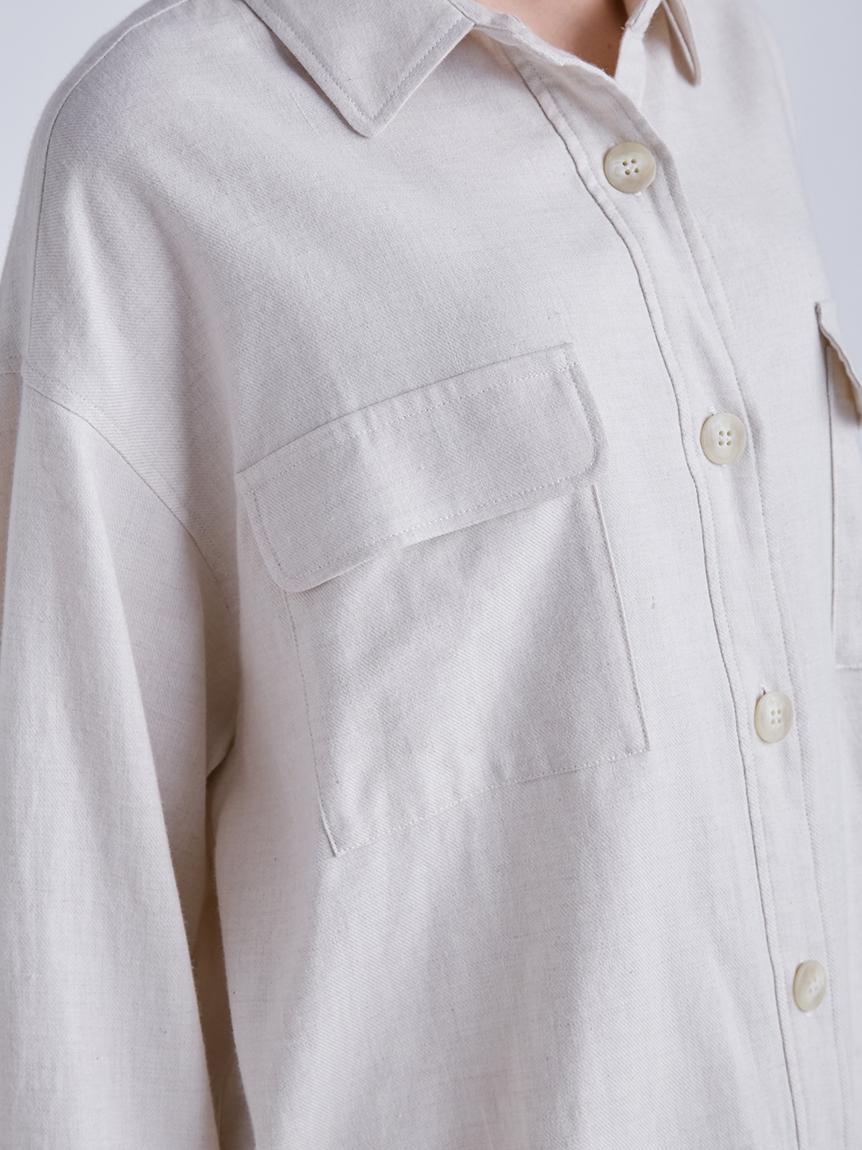 メランジコットンシャツ | PWFT214228
