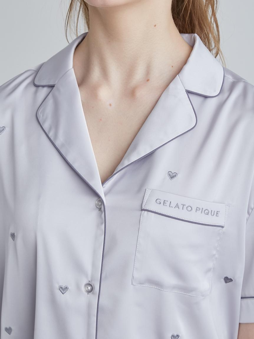 ハート刺繍半袖シャツ | PWFT214263