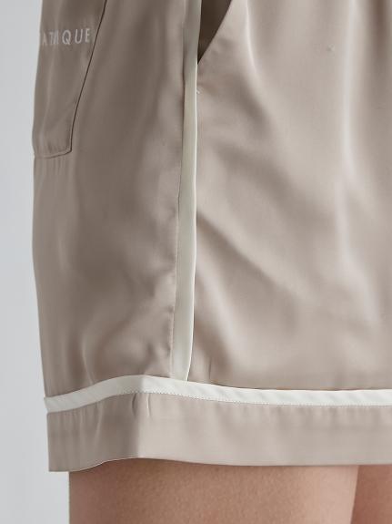 【ラッピング】サテンラインシャツ&ショートパンツSET | PWFT219148
