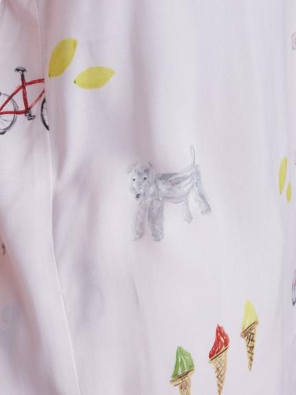 【ラッピング】サマーモチーフ柄シャツ&ショートパンツSET | PWFT219212