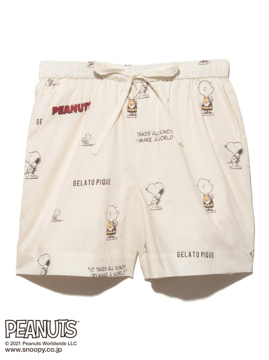 【ラッピング】【PEANUTS】モノグラム総柄シャツ&ショートパンツSET | PWFT219237
