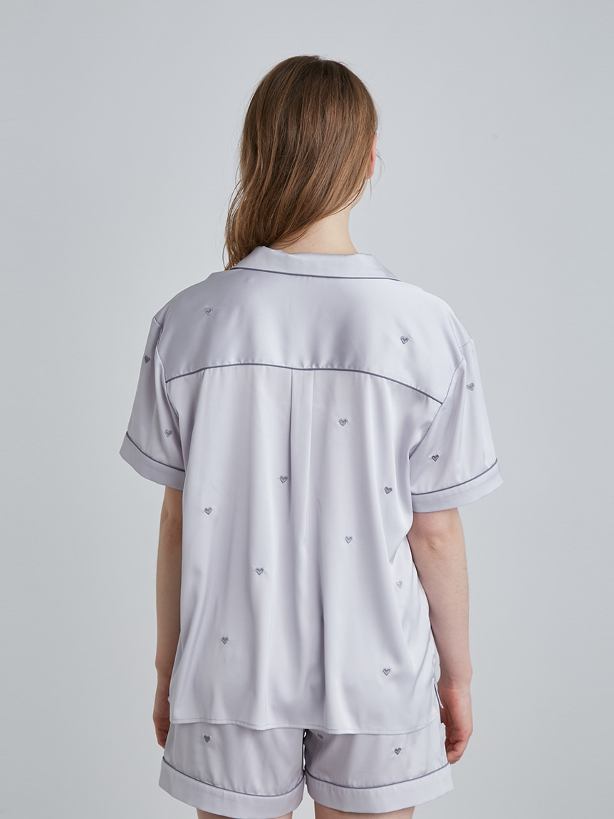 【ラッピング】ハート刺繍半袖シャツ&ショートパンツSET | PWFT219284