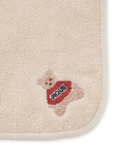 ベアモチーフ刺繍ハンドタオル | PWGG205617