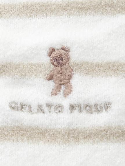 'スムーズィー'ベア刺繍ボーダーウエストウォーマー | PWGG211561