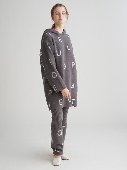 'パウダー'ロゴジャガードドレス | PWNO211085