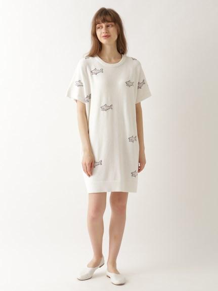 【オフィシャルオンラインストア限定】シャークジャガードドレス | PWNO211108