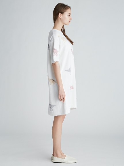 モチーフジャガードドレス | PWNO212074