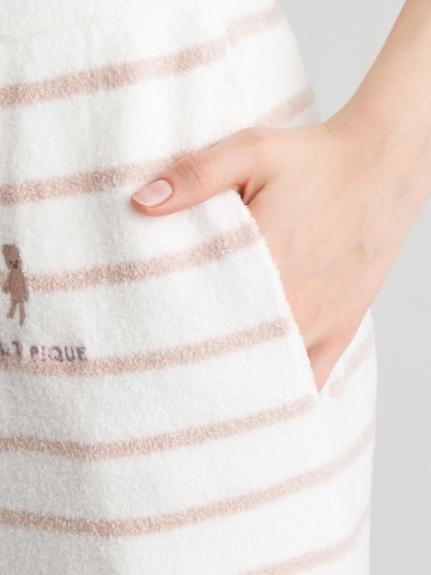 'スムーズィー'ベア刺繍ボーダーハーフパンツ | PWNP211038
