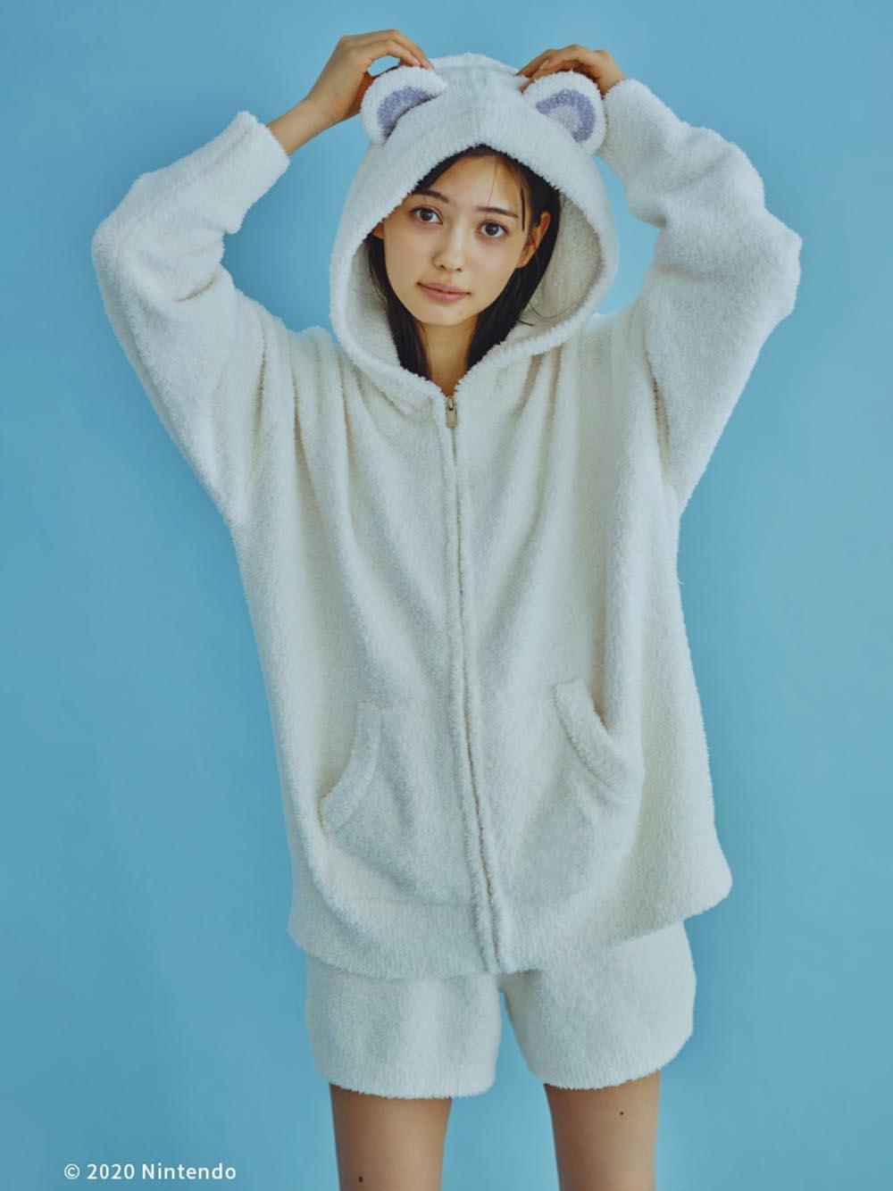 【あつまれ どうぶつの森】キャラクターパーカ・ショートパンツSET クリーム | PWNT205844