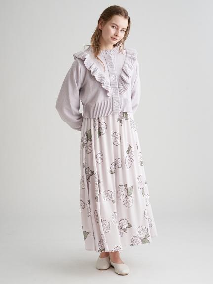 【ミュシャと椿姫】ラメニットカーディガン   PWNT211081