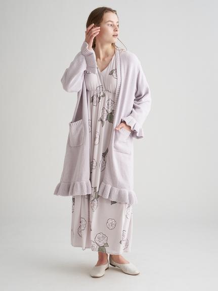 【ミュシャと椿姫】ラメニットロングカーディガン | PWNT211082