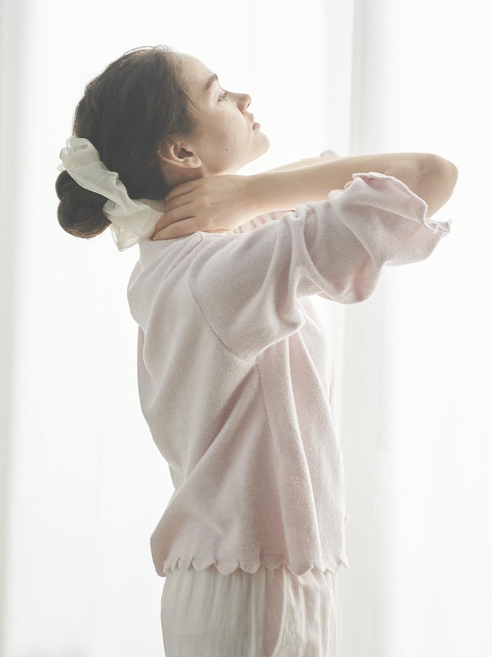 【SAKURA FAIR】'スムーズィーライト'スカラップカーディガン | PWNT211116