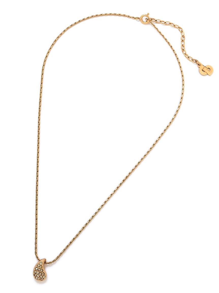 Christian Diorドロップストーンネックレス