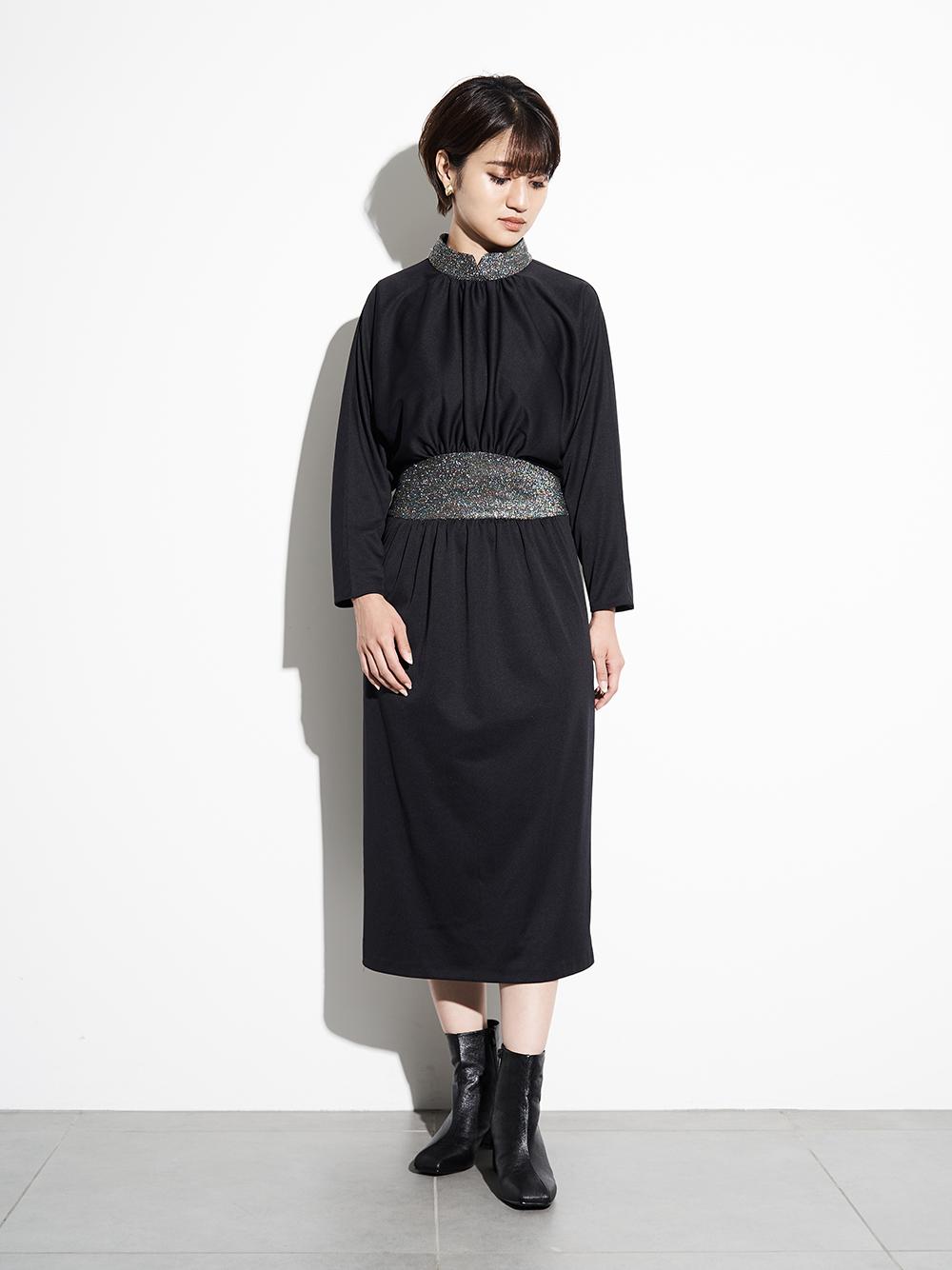 ヴィンテージブラックラメドレス