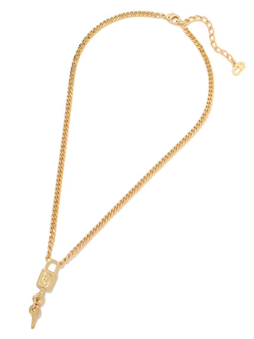 Christian Diorパドロックネックレス