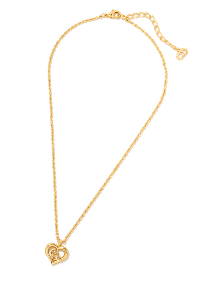 Christian Diorロゴハートモチーフネックレス