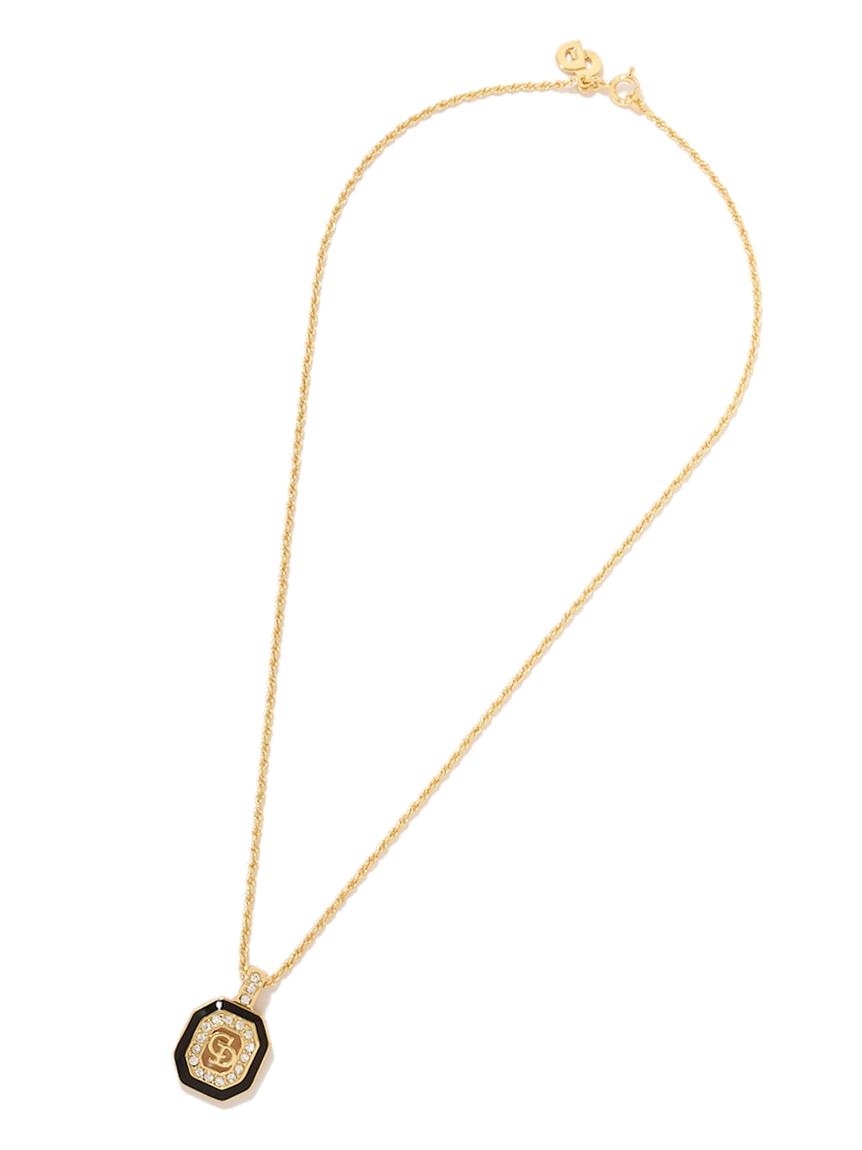 Christian Diorブラックモチーフネックレス(--F)