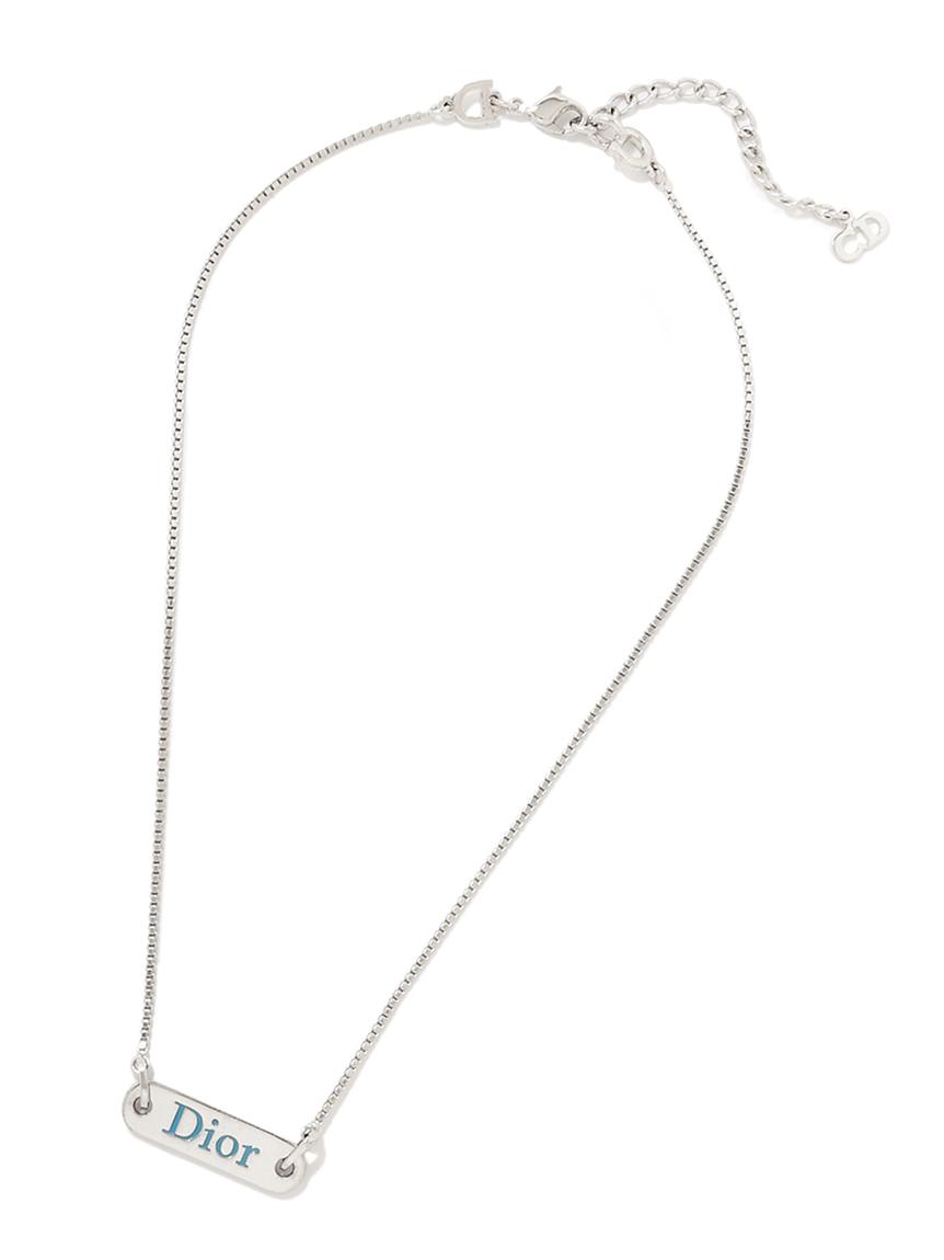 Christian Diorシルバープレートネックレス