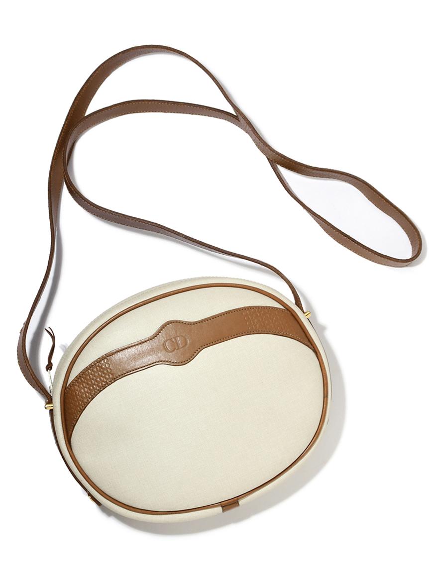 Christian Diorロゴモノグラムラウンドショルダーバッグ
