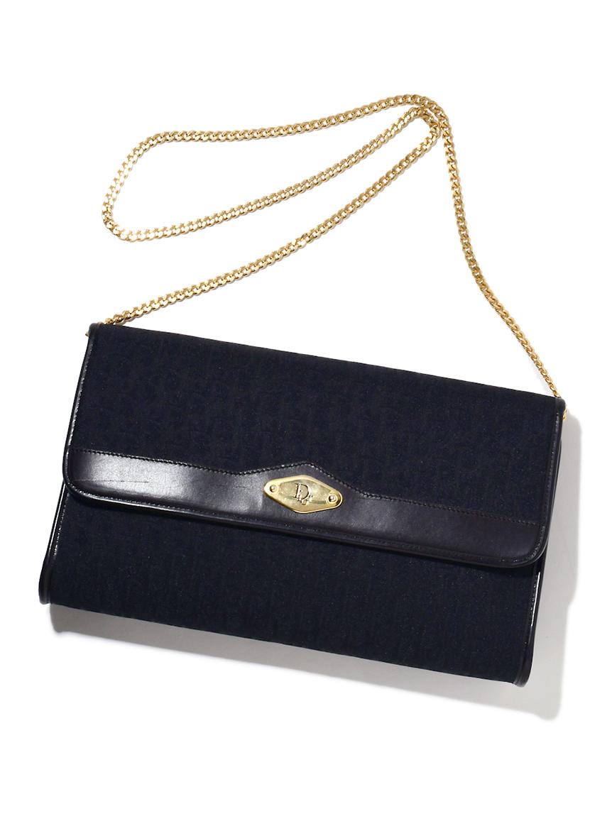 Christian Diorロゴフラップチェーンショルダー(--F)