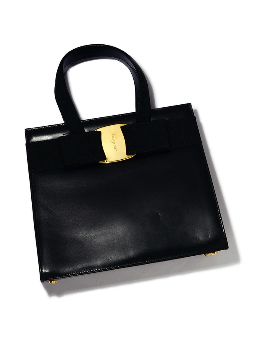 Salvatore Ferragamoヴァラスムースカーフハンドバッグ