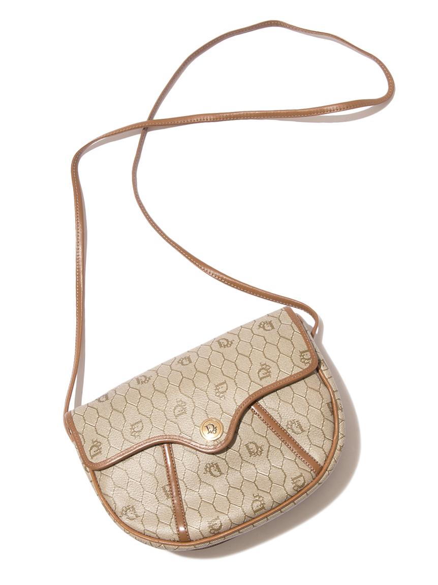 Christian Diorロゴフラップショルダーバッグ