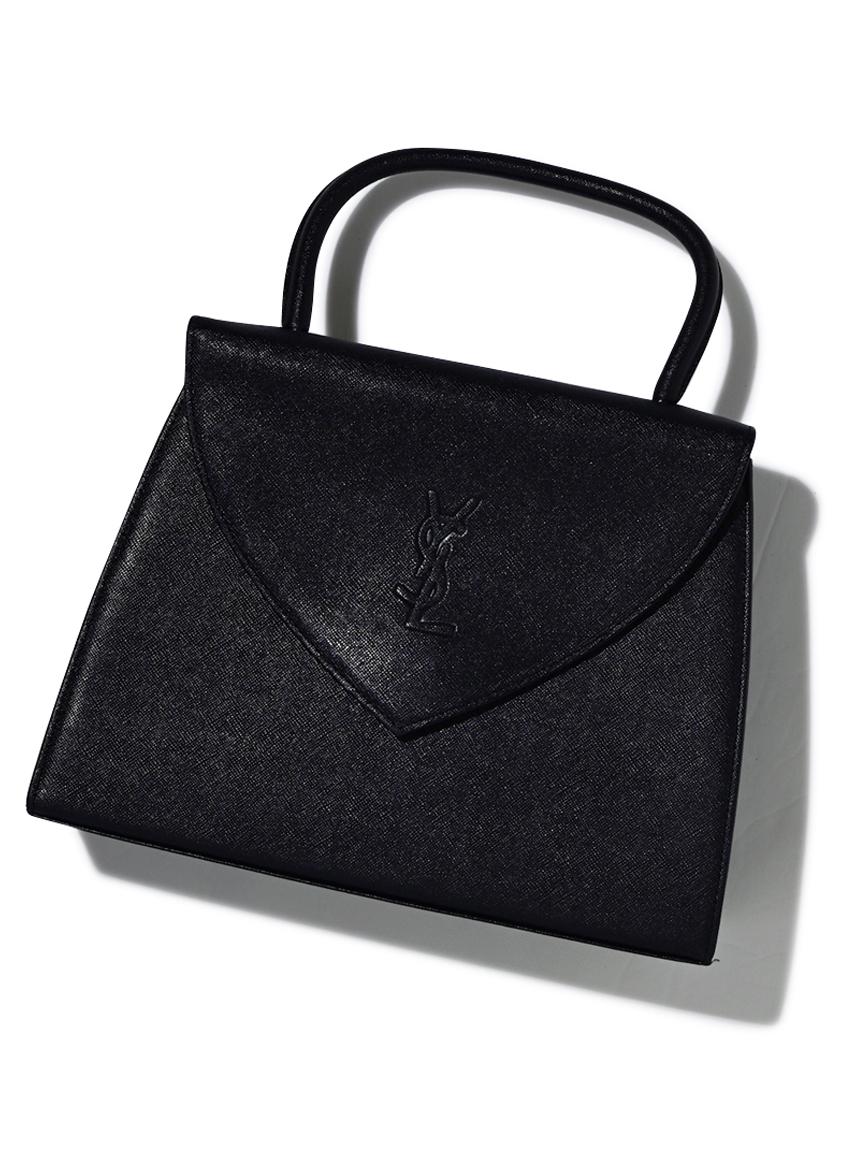 YSL カサンドラロゴフラップハンドバッグ