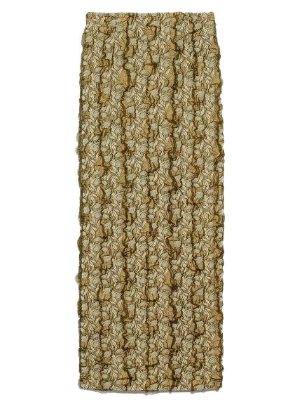 チュールジャガードタイトスカート(LIME-F)