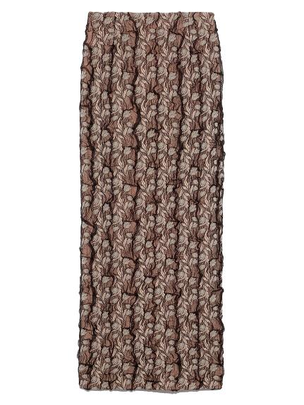 チュールジャガードタイトスカート(BRW-F)