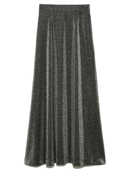 グリッターAラインスカート(BLK-F)