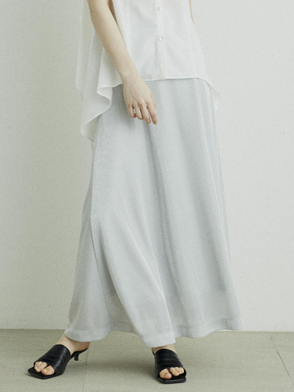 グリッターAラインスカート(SLV-F)