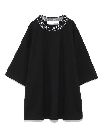 ロゴジャガードTシャツ(BLK-F)