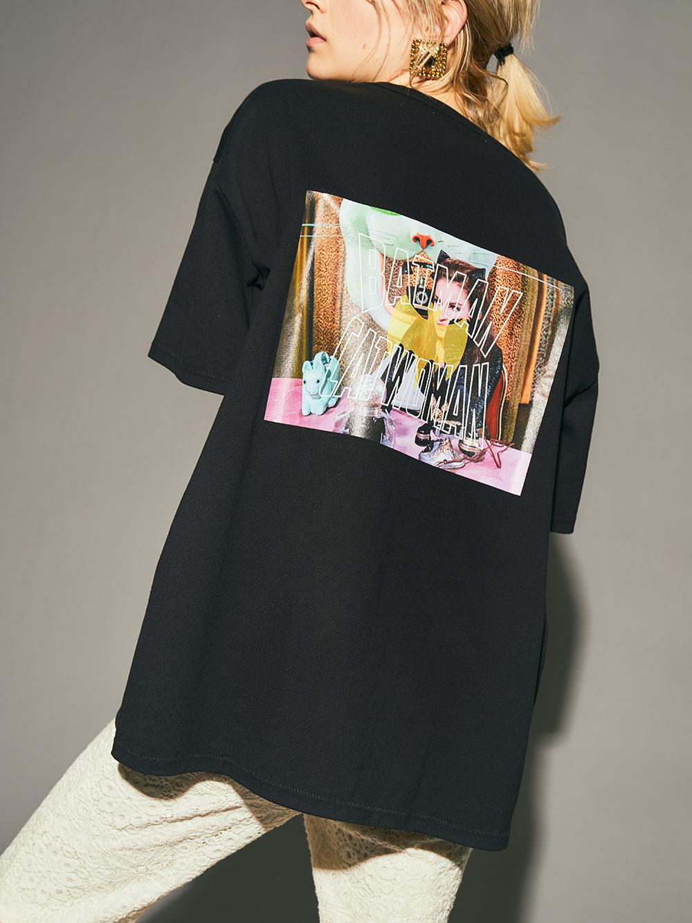 【限定】CATWOMANプリントBIGTシャツ(BLK-F)