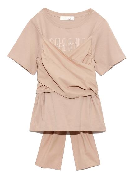 ビスチェドッキングロゴTシャツ(PNK-F)
