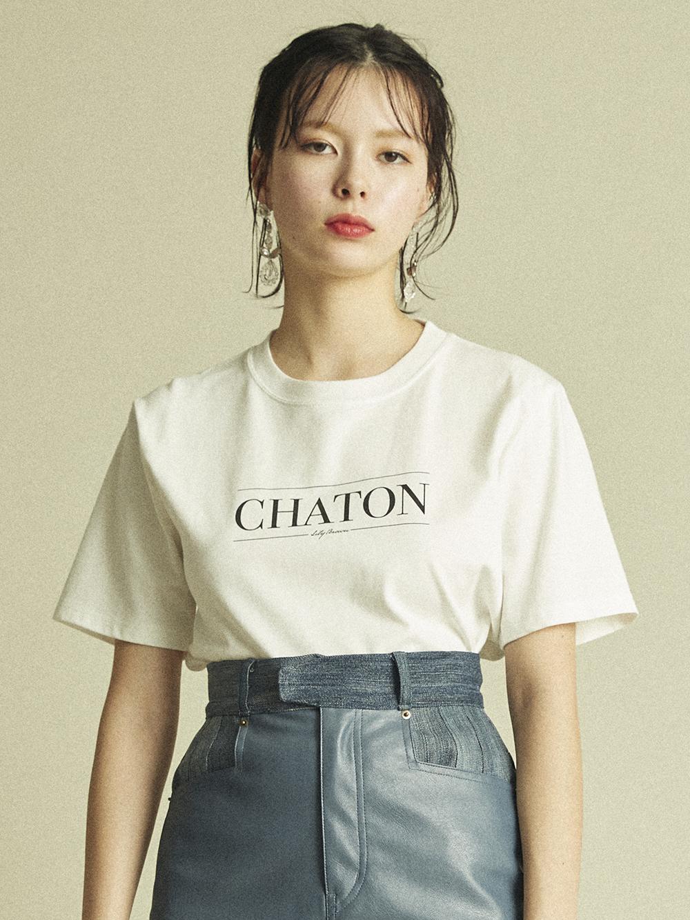 CHATONプリントTシャツ