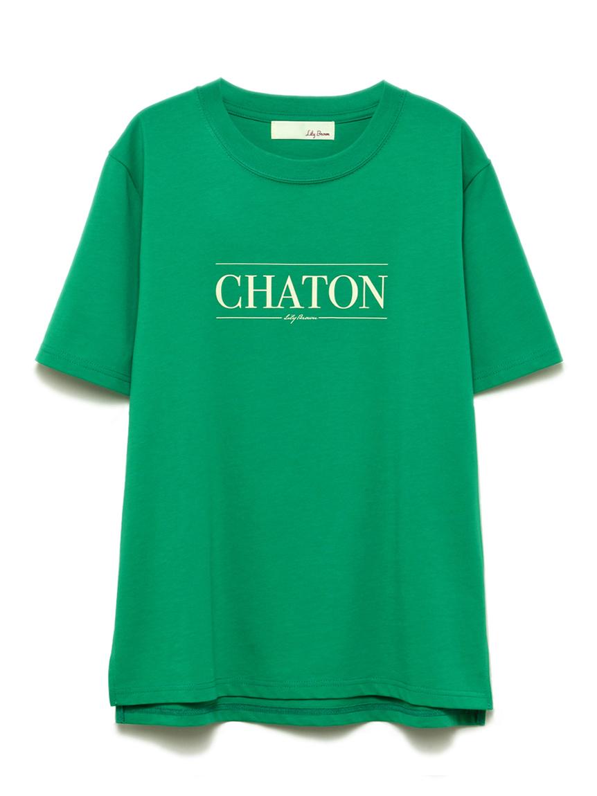 CHATONプリントTシャツ(GRN-F)