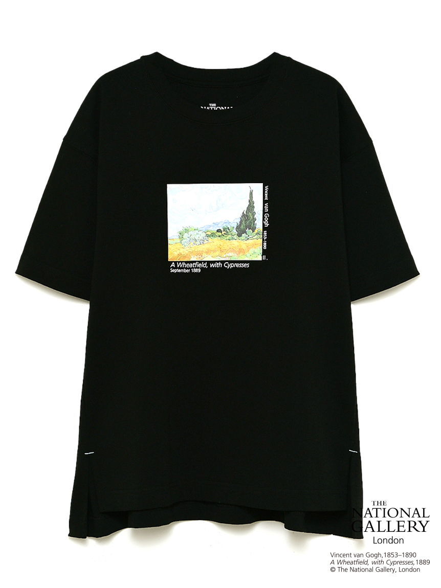 【The National Gallery, London】Vincent van Gogh アートTシャツ(BLK-F)