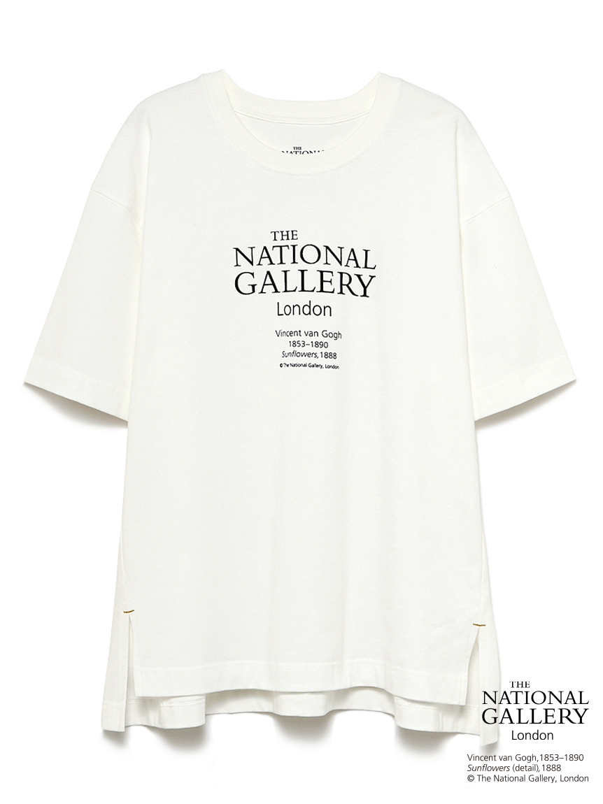 【The National Gallery, London】ロゴTシャツ(WHT-F)