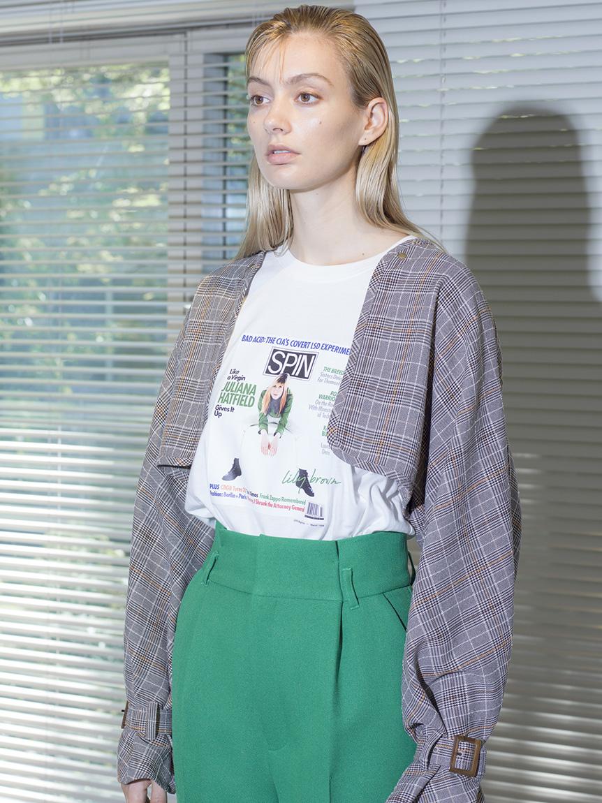 【SPIN×LILY BROWN】ロングスリーブTシャツ(GRN-F)