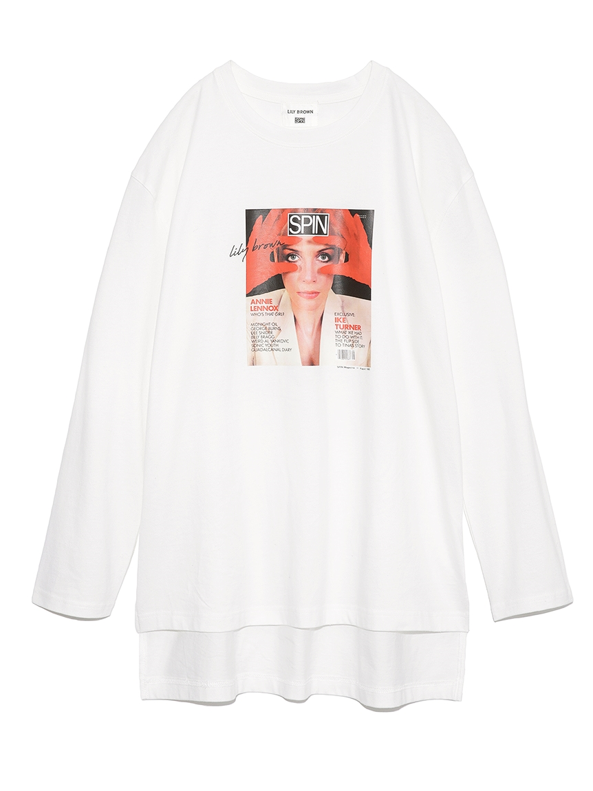【SPIN×LILY BROWN】ロングスリーブTシャツ(RED-F)