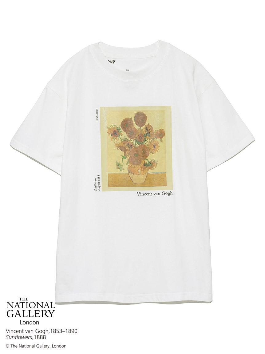 【The National Gallery, London】Vincent van Gogh Tシャツ(WHT-F)