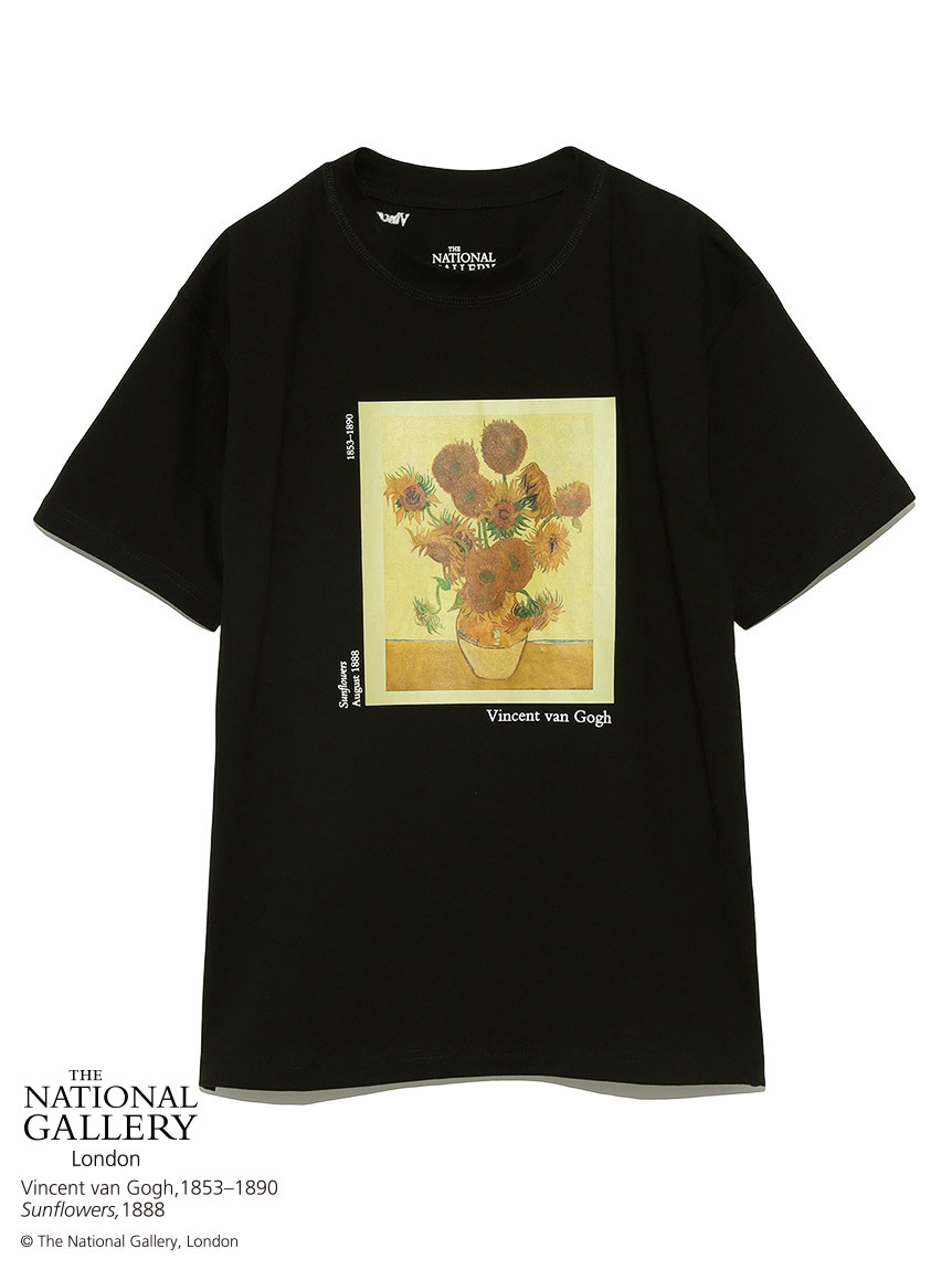 【The National Gallery, London】Vincent van Gogh Tシャツ(BLK-F)