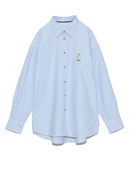 LilyBear刺繍シャツ(BLU-F)