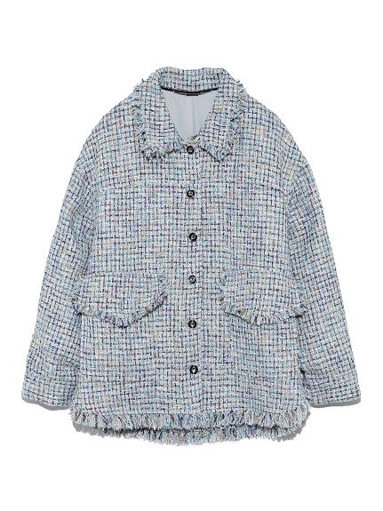 ツイードビッグジャケット(BLU-F)