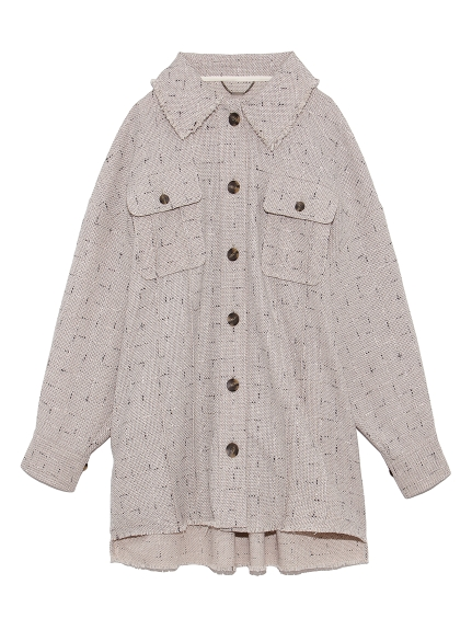 ツイードシャツジャケット(BEG-F)