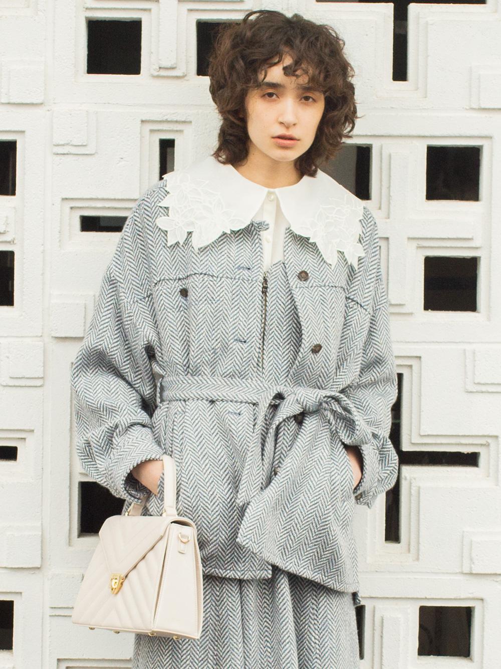 ビッグシルエットシャツジャケット(BLU-F)